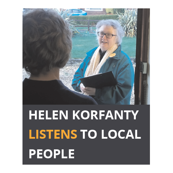 Helen listens to local people